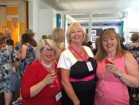 With Milly Johnson and Chrissie Bradshaw at the RNA Conference 2015